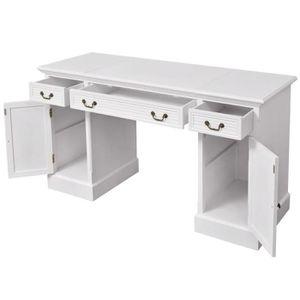 PUPITRE DE TABLE Table de Travail en bois de pin Avec 3 tiroirs et