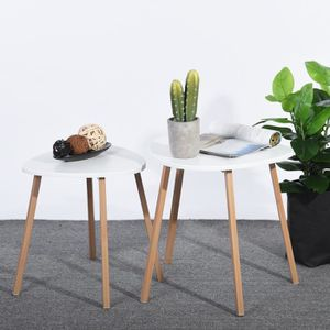 TABLE BASSE Lot de 2 Table basse style scandinave triangulaire