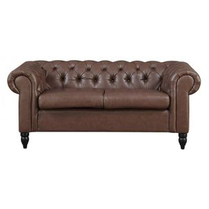 Canap chesterfield 2 places achat vente canap for Canape winson