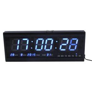 29db685bc64c3c HORLOGE - PENDULE Horloge Murale Calendrier Numérique Réveil LED Ave