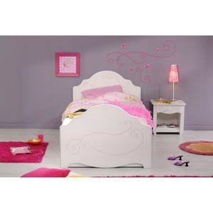 lit fille 90x190 achat vente lit fille 90x190 pas cher cdiscount. Black Bedroom Furniture Sets. Home Design Ideas