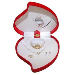 PARURE Coffret Cadeaux Coeur Miroir Femme Montre,Bague,Bo