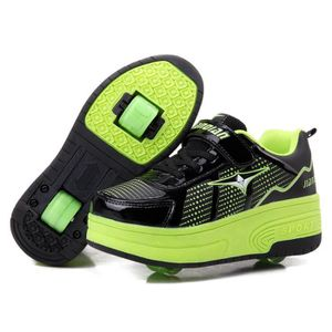 SKATESHOES Nouvel Enfant Heelys Chaussures à Roulettes avec D