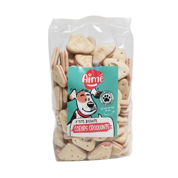 AIME Biscuits c¼urs croquants - Pour chien - 500g