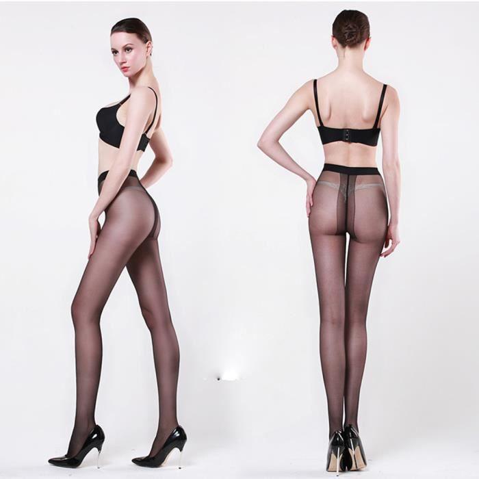 Femme Extensible Haute Brillance Mode Résistant Sexy Noir Collant n0w8mNv