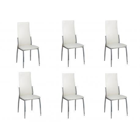Lot 6 chaises blanches design - Achat / Vente pas cher