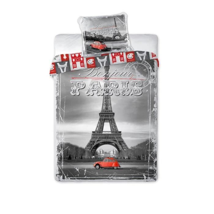 housse de couette paris tour eiffel achat vente housse de couette paris tour eiffel pas cher. Black Bedroom Furniture Sets. Home Design Ideas