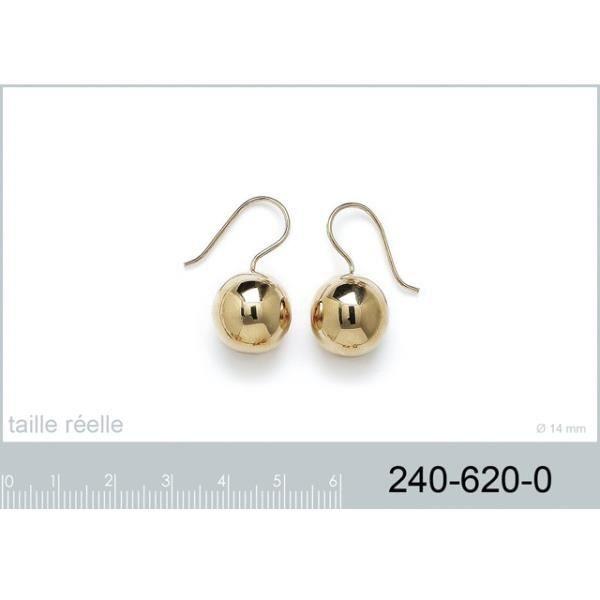 Boucles doreilles pendante perle en plaqué or