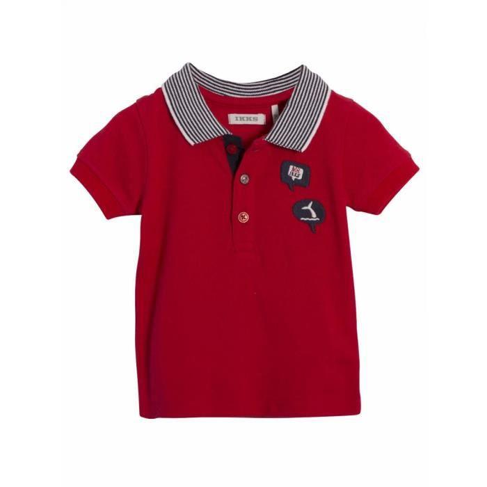 8f4f1d7e89c44 IKKS - Polo piqué de coton bébé garçon Ikks Rouge Rouge - Achat ...