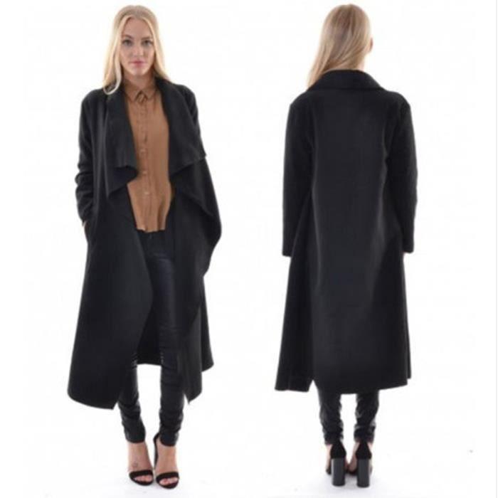 style distinctif les plus récents style top Long manteau de Les nouvelles femmes noir - Achat / Vente ...