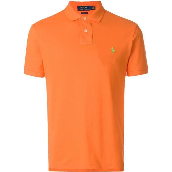 Polo épais Hommes promotion, orange
