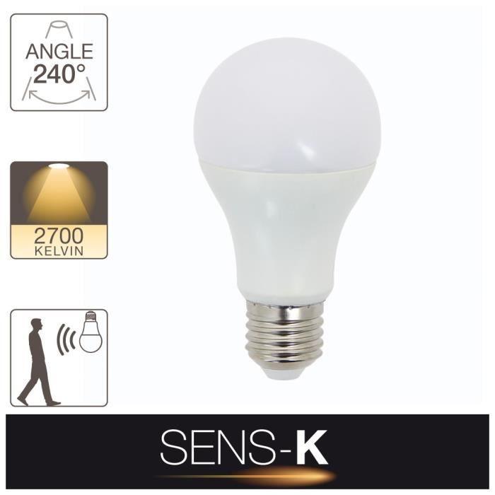 Blanc E2711w De Et Mouvement Ampoule EqLumière Cons60w Chaud LedCulot Détecteur dxoeCBrW