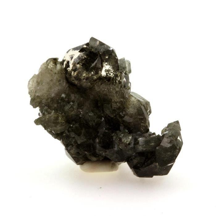 Pierre-Quartz chloriteux + Titanite. 60.9 cts. Massif du Mont-Blanc, France. Ultra rare