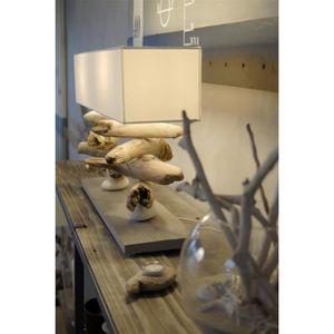 lampe en bois flotte achat vente lampe en bois flotte pas cher cdiscount. Black Bedroom Furniture Sets. Home Design Ideas