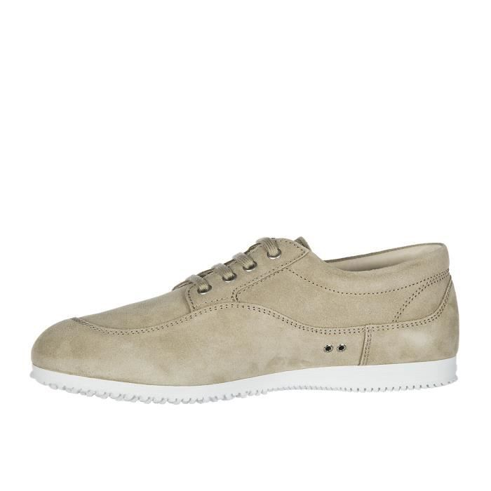 Chaussures baskets sneakers homme en daim tradition low top Hogan