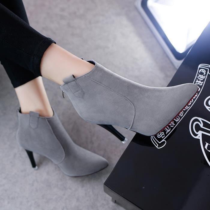 amp; et bottes bottes fines avec 2017 femmes à les nouvelles bottes Automne 39; des hiver chaussures hauts talons unique chaussures SqIYvw