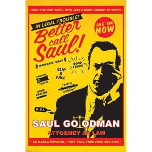 AFFICHE - POSTER Poster Breaking Bad - Better Call Saul Attorney At