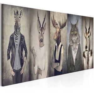 TABLEAU - TOILE Tableau - Animal Masks - 135x45