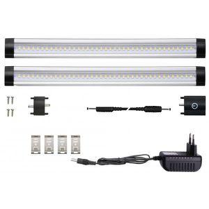 APPLIQUE  Kit 2 Réglettes LED aluminium 0m50 69 LED SMD blan