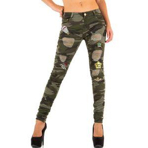 camouflage cher Vente Achat femme Jeans pas qwpRqf