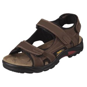 Outdoor Ouvert Ilovesia Cuir Sandales Nubuck Bout Velcros Homme 0wk8OnP