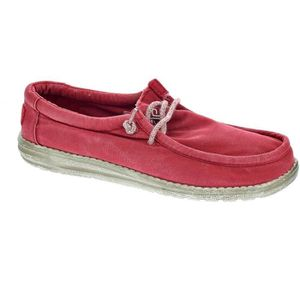 MOCASSIN Mocassins - Dude Wally Washed  Homme  Rouge