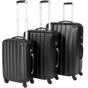 SET DE VALISES TECTAKE Set de 3 valises Mixte Trolley 400717-2 -