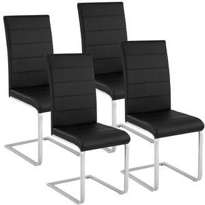 CHAISE TECTAKE Lot de 4 chaises de salle à manger rembour