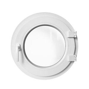 FENÊTRE - BAIE VITRÉE Fenêtre ronde à la française gauche 65 cm Blanche