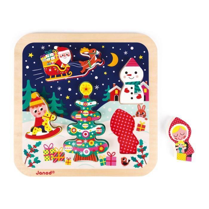 JANOD Puzzle chunky La magie de Noël - 5 pièces