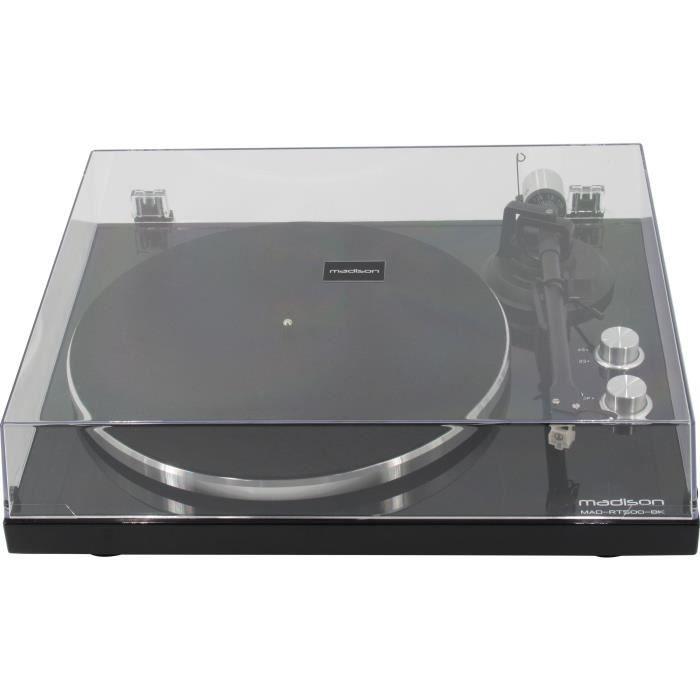 MADISON 10-5558 Platine-disques à entrainement par courroie - Encodage USB, transmission BT & cellule audio Technica