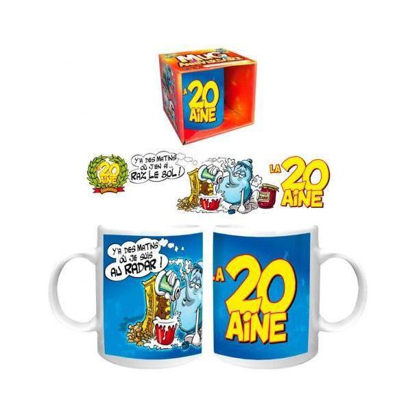 Mug Humoristique La 20aine 20 Ans Tasse Cadeau Anniversaire 370