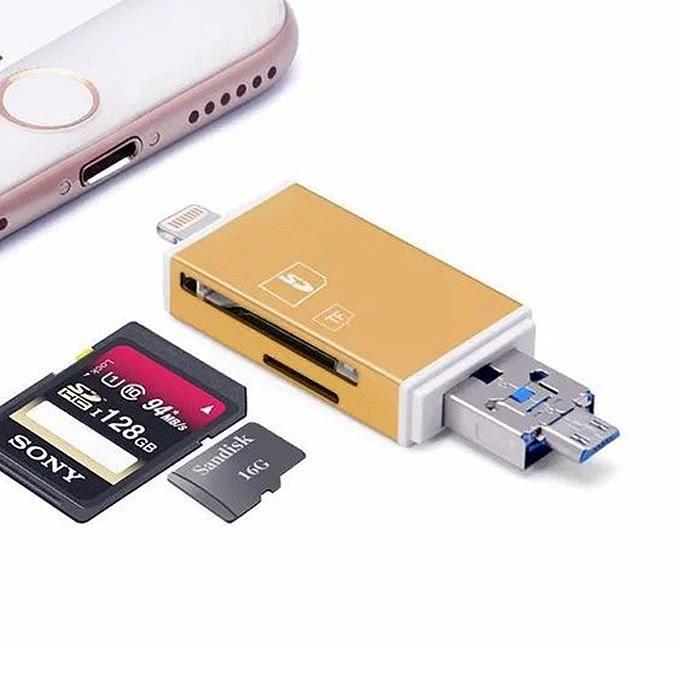 Cdiscount Lecteur Carte Sd.Micro Usb Usb 8 Broches Lightning Lecteur De Carte Sd Micro Sd Android Ios Pc Otg