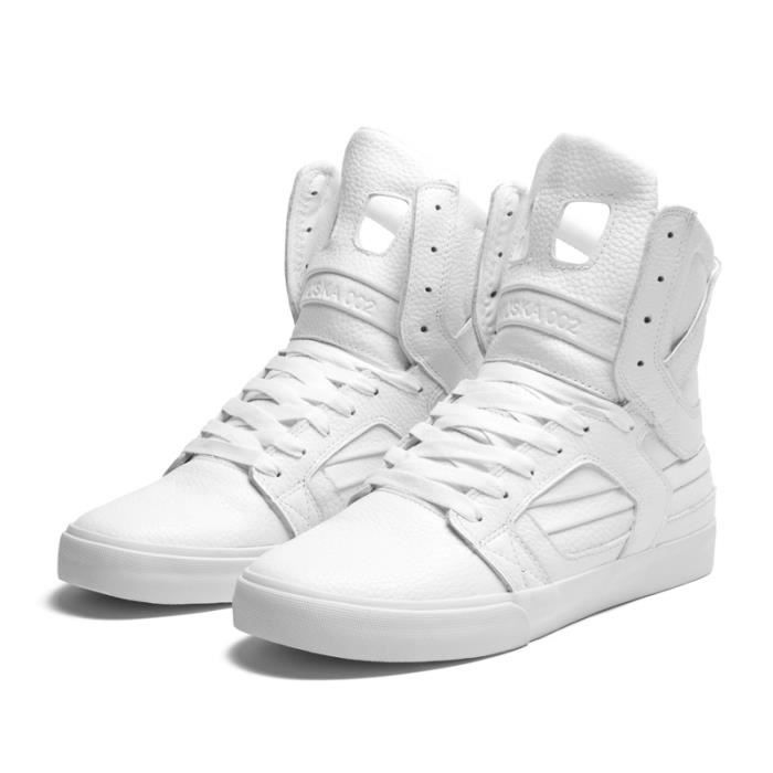 ... BASKET Shoes SUPRA SKYTOP II WHITE ACTION Supra vaider chaussures noir  / gris - blanc ...