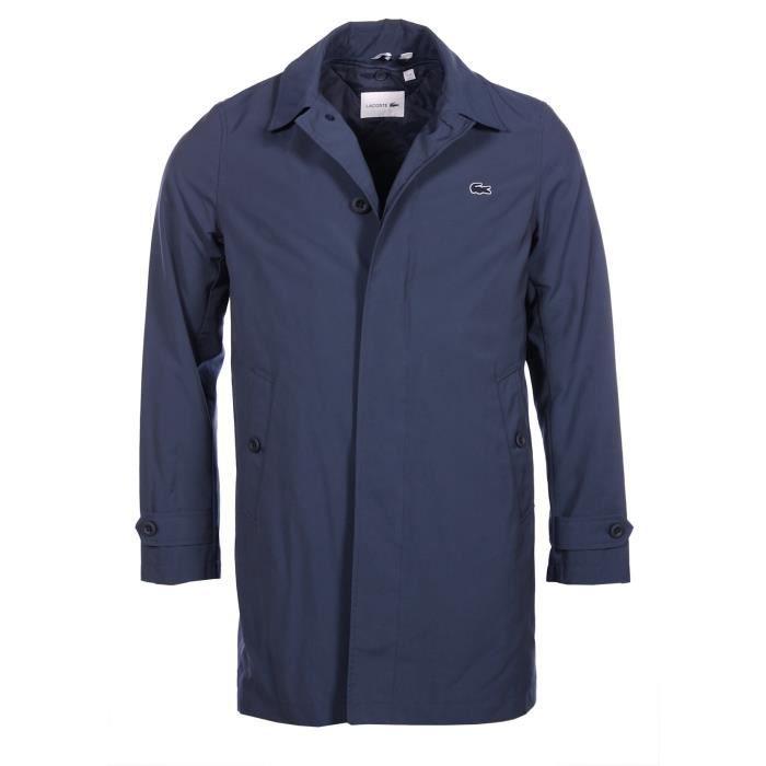 8085a39406 Lacoste Homme - Imperméable en tissu déperlant bleu marine BH9808 ...