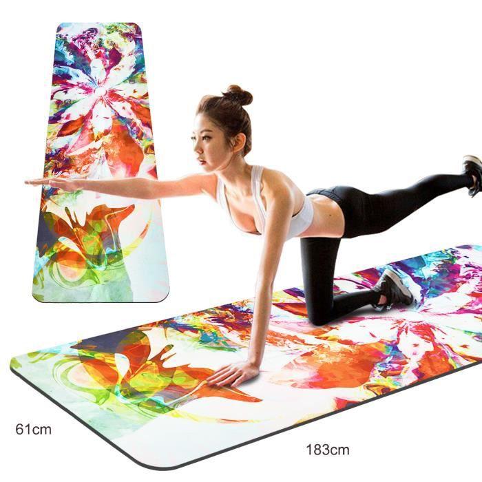 Tapis De Yoga Imprime 2 En 1 Tapis De Yoga Et Prix Pas Cher