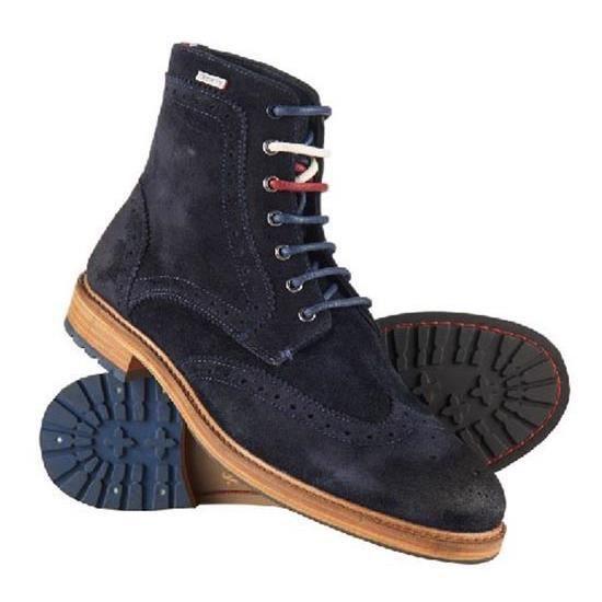 Chaussures homme Bottes et bottines Superdry Shooter Boot Bleu Bleu ... aade1b04185b