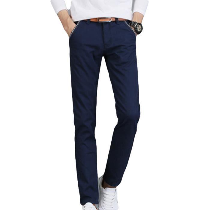Pantalon chino Homme coton Mode Casual Pantalon
