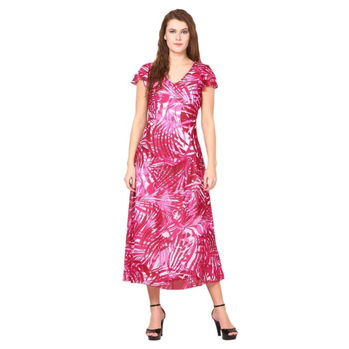 Womens Printed Dress - Georgette Slim Fit 1S8XS8 Taille-34