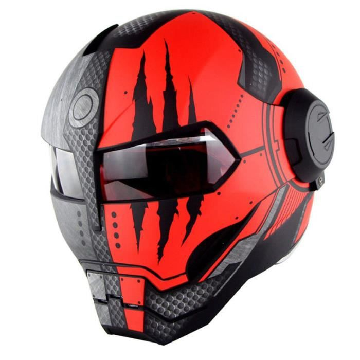 Casque Moto Unisexe De Marque Luxe Transformateurs Iron Man Soman