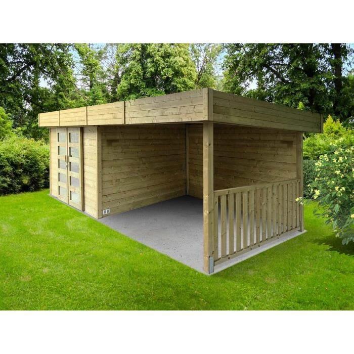 Abri de jardin toit plat - Achat / Vente Abri de jardin toit plat ...