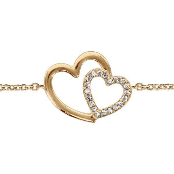 Bracelet femme - coeurs plaqué or - 927694