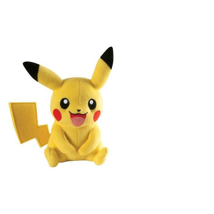 peluche pikachu tomy achat vente jeux et jouets pas chers. Black Bedroom Furniture Sets. Home Design Ideas