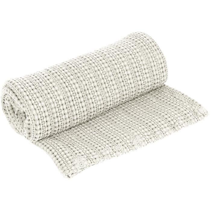 jet de lit en coton 180x250 cm perla lin par vent du sud achat vente jet e de lit boutis. Black Bedroom Furniture Sets. Home Design Ideas