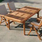 Table de jardin extensible en bois CARLINE