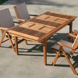 Table de jardin extensible avec chaises - Achat / Vente ...