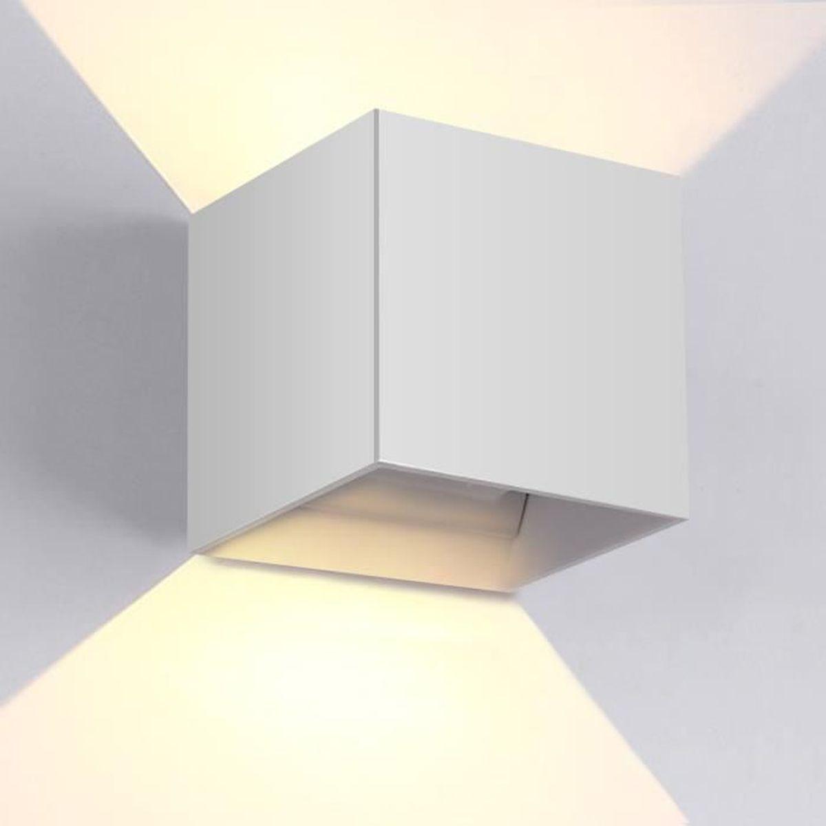 gimify 12w appliques murales led lumière interieur exterieur