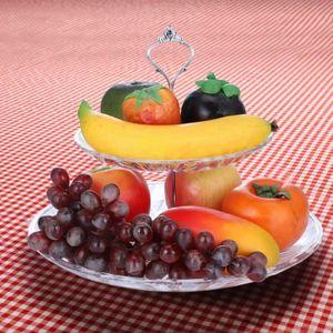 ASSIETTE 2-Tier Plateau à Fruits / Gâteaux / Desserts Acryl