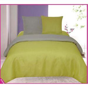 parure de drap vert achat vente parure de drap vert pas cher cdiscount. Black Bedroom Furniture Sets. Home Design Ideas