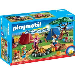 FIGURINE - PERSONNAGE PLAYMOBIL 6888 - Summer Fun - Camping Tentes avec